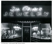 Image of Du Priest Jewelry store, Huntington,  Indiana, 1947 - Dated March 20, 1947.