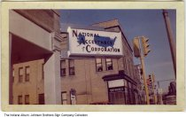 Image of National Acceptance Corporation, Marion, Indiana, ca. 1955 - Also seen is the News Printing Company.