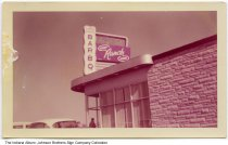 Image of The Hobby Ranch House Restaurant, Fort Wayne, Indiana, ca. 1955 - One of a series of Hobby House restaurants in Fort Wayne. This location specialized in barbeque and an early assistant manager was Dave Thomas who later became the founder of Wendy's fast food restaurant.