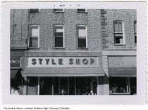 Image of The Style Shop, Indiana, 1959 - Date stamped November, 1959.