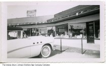 Image of Highway Drug Store, Indiana, ca. 1960 - Also seen in this image is the Foodtown Office.