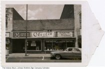 Image of Oberlin Sales appliance and electronics store, Indiana, ca. 1960 - Oberlin Sales, Inc. stores were located in Auburn and Butler, Indiana.