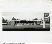 Image of Azar's Big Boy restaurant artwork, Indiana, ca. 1965 - An artist's rendering of the restaurant.