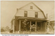 Image of House at 56 South 8th Street, Beech Grove, Indiana, ca. 1910  - Home of P W. Shelor. Florence was born in this house around 1913.
