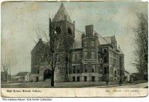Image of High School, Elwood, Indiana, ca. 1912 - Postmarked 1912.