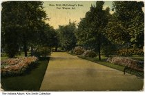 Image of Main walk in McCullough's Park, Fort Wayne, Indiana, ca. 1911 -  Postmarked 1911.