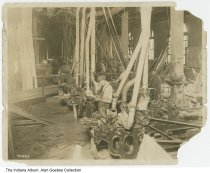 Image of Men working in a lumber mill, Indiana, ca.1910