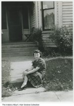 Image of Helen (Nelis) Goebes at home, Indianapolis, Indiana, ca. 1930