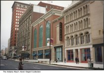 Image of Downtown Businesses, Indianapolis, Indiana, 1995 - Opening day of downtown's Circle Centre Mall, showing Parisian, the Limited, and the Griffith Block facade.