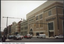 Image of Nordstrom store at Circle Centre Mall, Indianapolis, Indiana, 1995 - Opening day of downtown's Circle Centre Mall.