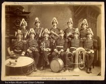 Photo of a musical ensemble, Goblesville, Indiana, ca. 1890