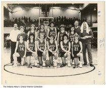 Image of Huntington High School girls basketbal team, Huntington, Indiana, 1988 - The photo was taken in winter of 1988.