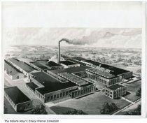 Image of Asbestos Company plant drawing, Huntington, Indiana, ca. 1930