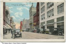 Image of Calhoun Street looking north, Fort Wayne, Indiana, ca. 1922 - Postmarked 1922.