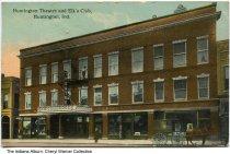 Image of Huntington Theatre and Elks Club, Huntington, Indiana, ca. 1913 - Postmarked 1913.