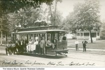 Image of First East Jackson Line streetcar, Elkhart, Indiana, ca. 1915 -