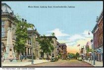 Image of Main Street looking east, Crawfordsville, Indiana, ca. 1940