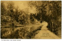 Image of Cycle path along the canal, Indianapolis, Indiana, ca. 1909 - Postmarked 1909.