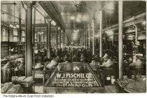 Image of Postcard of W. J. Fischel Clothing Store, Indianapolis, Indiana, ca.1915 - Postcard showing the interior of W. J. Fischel Clothing Store. Postmarked 1915.