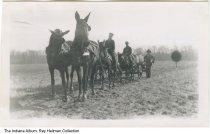 Image of Kaetzel family on their farm, Santa Claus, Indiana, ca. 1910 -