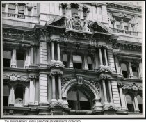Image of Snapshot of Marion County Courthouse window details, Indianapolis, Indiana, June 1962 - Snapshot of architectural details around the windows of the old Marion County Courthouse, just before its demolition in June of 1962. It was taken by photographer Arthur Wilson Hendricks of Indianapolis, Indiana. It is dated 6-13-1962.
