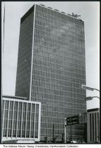Image of Photograph of the new Indianapolis City-County building, Indianapolis, Indiana, 1962 - Photograph of the newly built Indianapolis City-County Building, 1962. This view shows the south facade.