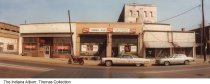 Image of Businesses on South Illinois Street, Indianapolis, Indiana, ca. 1980 - Seen are The Landwerlen Leather Co. (at 365 South Illinois Street), Old Tunnel Bar and a costume shop.