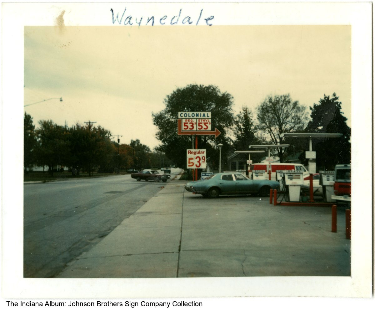 Fort Wayne Gas Prices >> Colonial Gas Station Fort Wayne Indiana Circa 1975