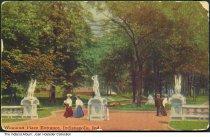 Image of Woodruff Place entrance, Indianapolis, Indiana, ca. 1912 - Postmarked 1912.