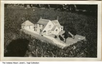 Image of Miniature house built by Manual Training High School students, Indianapolis, Indiana, ca. 1925