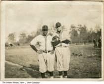Image of Two Manual Technical High School baseball players, Indianapolis, Indiana, ca. 1935