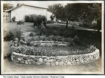 Image of Landscaping by the Reith home, RR2, Marion, Indiana, ca. 1920