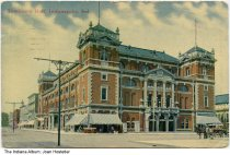 Image of Tomlinson Hall, Indianapolis, Indiana, ca. 1914 - Postmarked 1914.