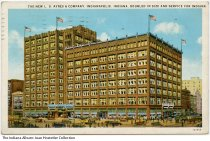 Image of L. S. Ayres downtown store, Indianapolis, Indiana, ca. 1931 - Postmarked July 6, 1931.