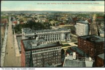 Image of Looking north from Monument Circle, Indianapolis, Indiana, ca. 1915