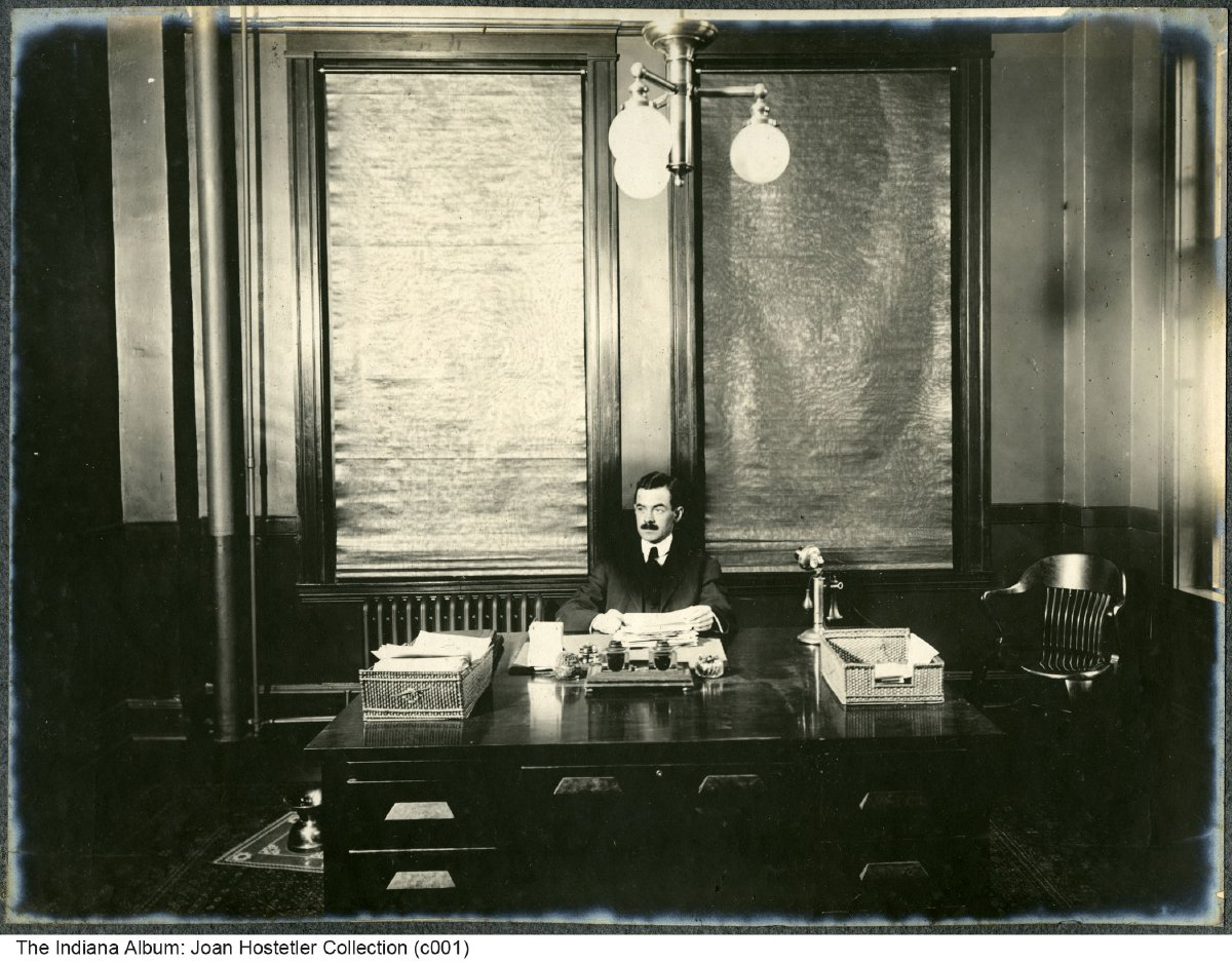 Man Behind A Desk, Central Union Telephone Company, Indianapolis, Indiana,  1907   Another Photo In This Bound Album Shows A Calendar Dated December  1907.