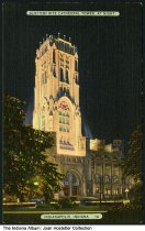 Image of Scottish Rite Cathedral at night, Indianapolis, Indiana, ca. 1935 - Postmarked 1938.