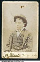 "Image of Portrait of Bill Mohn, Pierceton, Indiana, ca. 1880 - Written in pencil on the back is ""Bill Mohn."""
