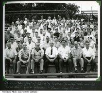 Image of Large group photo of Gatke Corporation workers, Warsaw, Indiana, ca. 1947