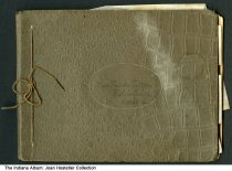 """Image of Photo album cover of images from Fishers, Indiana, 1909 - This photo album cover reads """"Miss Frances Trittipo, Fisher's Switch, Indiana, '09."""" Fisher's Switch was later known only as Fishers."""