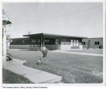 Image of Dr. Wurtz Dental office, Indianapolis, Indiana, ca. 1958 - The dental office of Drs. Raymond and Robert Wurtz after their original office was demolished for road construction in 1954. It was sold to another dentist in 1980, and razed to build a gas station around 2002.