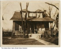 Image of Home at 5320 Lowell Avenue, Indianapolis, Indiana, ca. 1925 - The home once belonged to John and Alice Murphy. She was later known as Mrs. Alice F. Murphy after her husband died young and left her with five children.