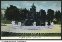 Image of City Park Fountain, Columbus, Indiana, ca. 1911 - Dated 1911.