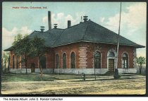 Image of Water Works, Columbus, Indiana, ca. 1910 - Postmarked 1910.