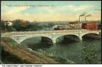 Image of Colfax Avenue Bridge, South Bend, Indiana, ca. 1912 - Postmarked September 20, 1912.