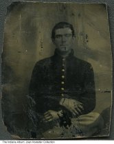 Image of J. W. Baggerley in an Army uniform, Indiana, ca. 1863
