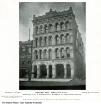 Image of Fletcher's Bank, Indianapolis, Indiana, ca.1880 - This engraving was by the Boston Photogravure Company from a photograph by Rose.