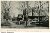Image of East side of Delaware Street from Home Avenue, Indianapolis, Indiana, ca. 1885