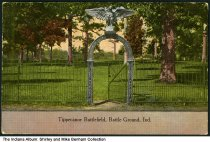 Image of Tippecanoe Battlefield, Battle Ground, Indiana, ca. 1915 - Postmarked February 8, 1915.