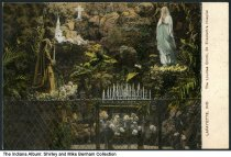 Image of Lourdes Grotto at St. Elizabeth's Hospital, Lafayette, Indiana, ca. 1910